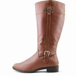 Karen Scott Deliee Cognac Riding Boots
